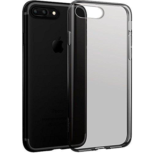 iPhone 7 Plus Hülle (5,5 Zoll), ESR® 0.8mm Dünn Transparent Schutzhülle Weiche Silikon Hülle für iPhone 7 Plus (Schwarz) Schwarz