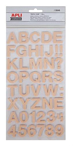 APLI ABC Stickers mousse 104 unités 25 à 30 mm