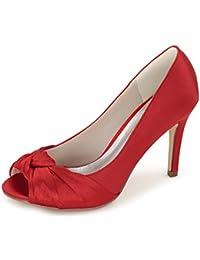 es Para Novia Mujer Amazon De Rojos Zapatos dWwFXqqRx8