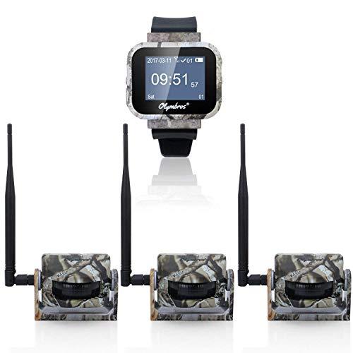 Olymbros Detector de Movimiento 360°65ft Inalámbrico Caza Trail Sistema de Alarma