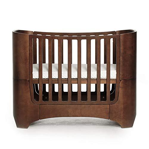 KLI Cama Mecedora De Madera De La Cuna De Bebé De La Pintura Inofensiva Sólida Inofensiva Sólida Inofensiva del Bebé Recién Nacido, El 120 * 68 * 94Cm,Brown