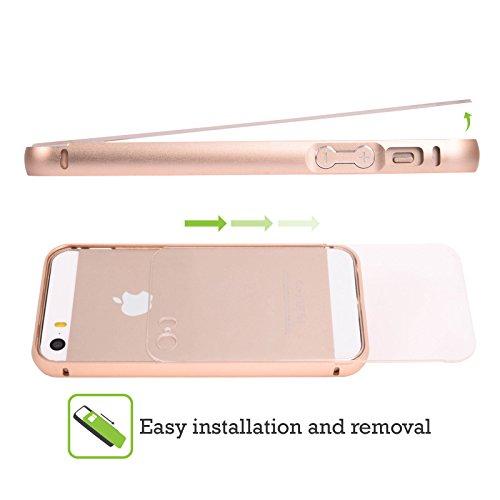 Head Case Designs Tropisch Fab Flamingo Gold Rahmen Hülle mit Bumper aus Aluminium für Apple iPhone 5 / 5s / SE Tropisch