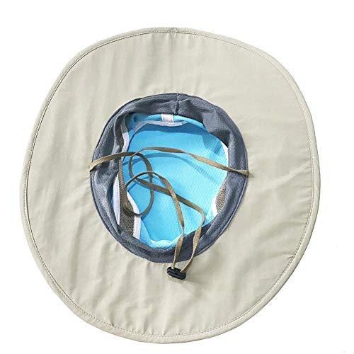 Unisex Sommer Sonnenhut Für Frauen Männer EIS Hut Sonnencreme Kühlung Ice Cap Handtuch UV Schutz Formbar Breiter Krempe Hut (Eis Angeln Handtuch)