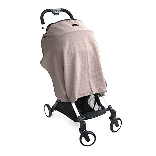 Carseat Canopy Couverture auto pour bébé Soins infirmiers Canopy Siège allaitement Couvre Up Baby siège d'auto pour Auvents garçons poussette Couvre Panier Cover Brown