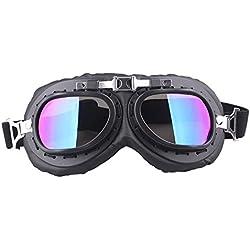 RETYLY Colorido A Prueba de Viento Motocicleta Bicicleta Flying Goggle Gafas Antivv Moto Casco Gafas para Harley Cafe Racer Protector