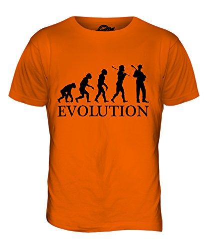 CandyMix Jazz Gitarre Evolution Des Menschen Herren T Shirt Orange
