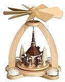 Tischpyramide - Teelichtpyramide mit Seiffener Kirche - Original Erzgebirge®