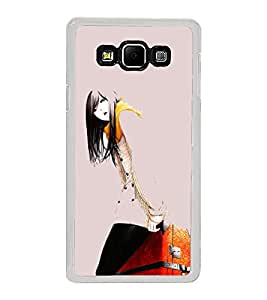 Girl with Travel Bag 2D Hard Polycarbonate Designer Back Case Cover for Samsung Galaxy A8 (2015 Old Model) :: Samsung Galaxy A8 Duos :: Samsung Galaxy A8 A800F A800Y