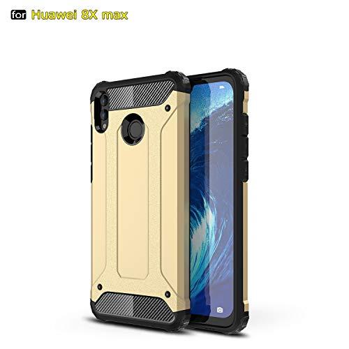 SANHENGMIAO COVER Für Huawei Handy Schwerlast gepanzerte Hartpanzer-Doppelhülle aus Hartpanzer für TPU + PCU + Schutzhülle für Huawei Honor 8X Max (Farbe : Gold) -