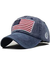 elegantstunning Unisex Stile Vintage Flags Design Cappello da Baseball  Casual Traspirante Protezione Solare 42d62fd08fb9