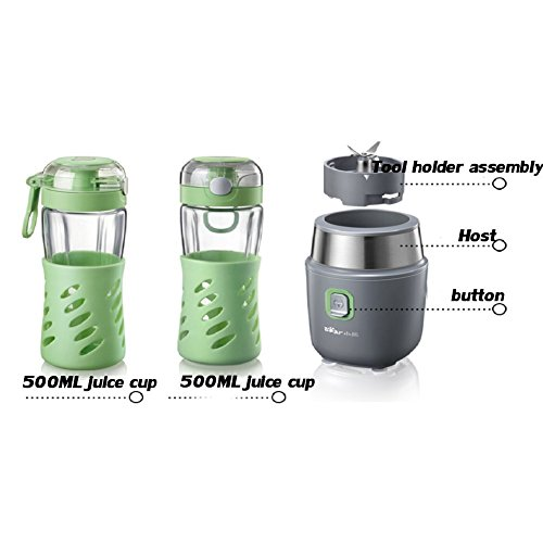DRM Fruit Smoothie Maker,Electric Fruit Smoothie,Personal Blender,(22,000 Rpm), For Shakes Smoothies Abs Portable Bpa Free 2 Sport Tritan Bottle-Gray