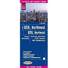 Reise Know-How Landkarte USA 01, Nordwest (1:750.000) : Washington und Oregon: world mapping project