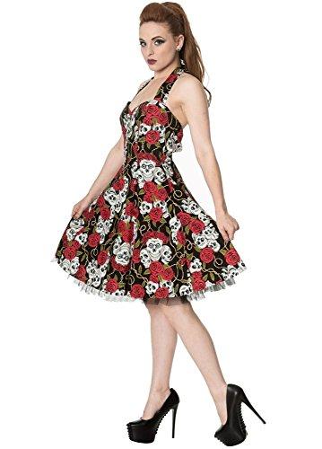 Banned Skull & Roses Mini Kleid Rot