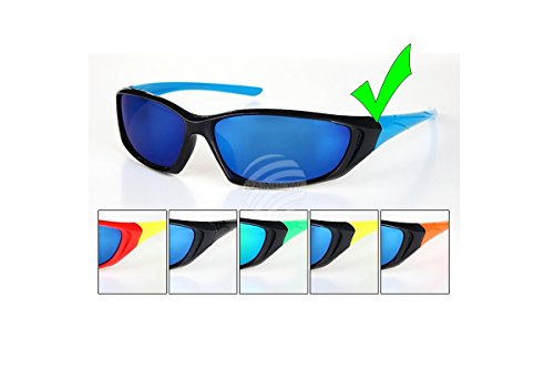 Brille Sonnenbrille Kinder-Viper Sport-Chrom Spiegelbild Spiegel-k-103 Einheitsgröße blau