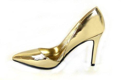 SKO'S , Sandales Compensées fille femme Gold (5506-15)