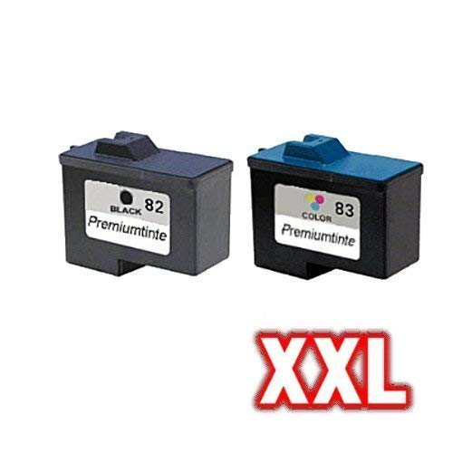 Preisvergleich Produktbild Kompatibles Tintenpatronen Sparset für Lexmark NO 82 + 83 X6150 X6170 X6190 X6190 PRO Z55 Z55SE Z56 Z65 Z65N 18L0032 18LX042
