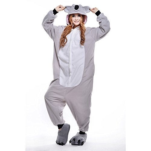 Imagen de pijamas adultos animales disfraz anime cosplay ropa de dormir franela traje unisex homewear m koala gris alternativa