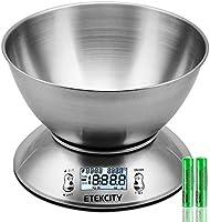 Bilancia Cucina Digitale, Etekcity Bilancia da Cucina Elettronica in Acciaio Inossidabile 5kg/ 11lb con Ciotola...