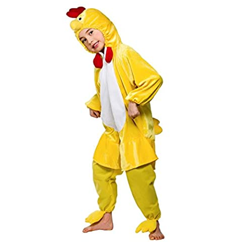 Yellow Chicken Costume Kids Cute Chick Farm Animal Fancy Dress