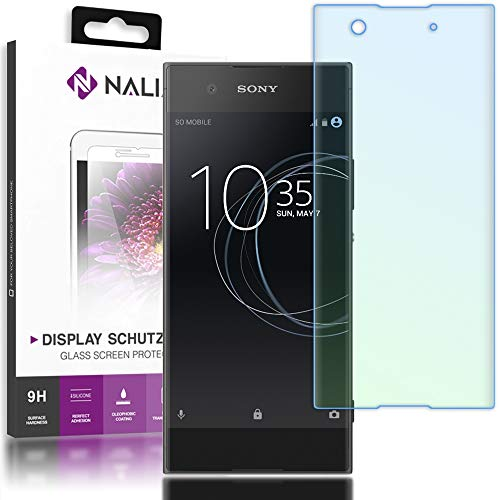 NALIA Schutzglas kompatibel mit Sony Xperia XA1, 3D Full-Cover Bildschirmschutz Handy-Folie, 9H Härte Glas-Schutzfolie Display-Abdeckung, Schutz-Film HD Screen Protector Tempered Glass - Transparent