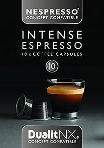 6 x Dualit NX Intense Espresso Nespresso Compatible Dark Coffee Pod Capsules x 10 (60 Total)