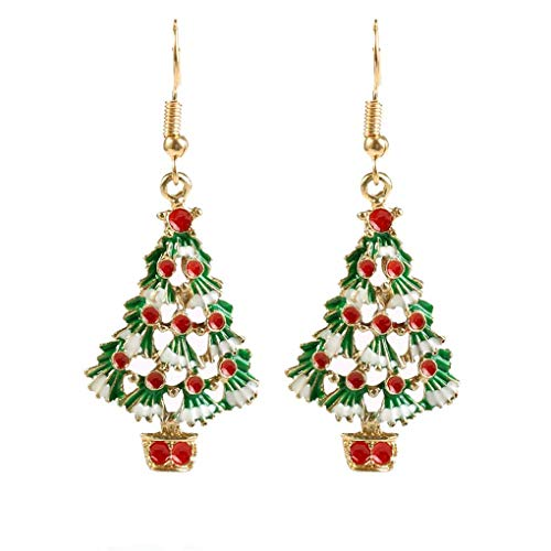 Windy5 Donne Albero di Natale orecchini strass Eardrop femmina di natale Festival regalo di compleanno gioielli orecchio Hook