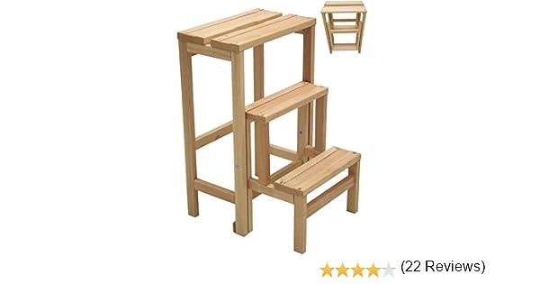 Sgabello sedia scala scaletta richiudibile in legno da interno