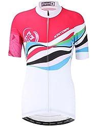 YOUJIA Maillots de Ciclismo Camiseta de Manga Corta para Mujeres, Deportiva / Secado Rápido