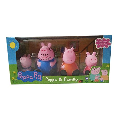 Peppa Pig Family Peppa George Daddy Mummy Figure Playset Toy - 4/pcs