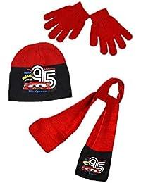 Cars Echarpe, bonnet et gants enfant garçon Disney 3 coloris de 3 à 9ans e0ffd547456