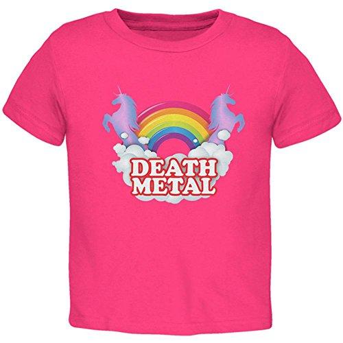 Old Glory Death Metal Rainbow Einhörner Kleinkind T-Shirt Hot Pink 4T (Kleinkind T-shirt Graphic Jungen)