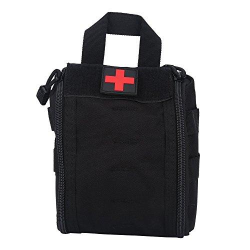 Borsa medica di sopravvivenza di emergenza per infermieri portatili per attività all'aperto per sport all'aria aperta ( Colore : Nero ) Nero