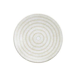 Avet Spain Dessert Plate Set, Stoneware, White, 21x 21x 2.2cm Set of 6