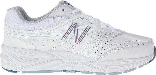 New Balance, Scarpe da corsa donna (White with Pink)