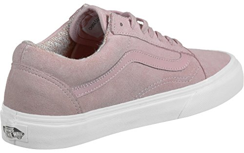 Vans U Old Skool, Baskets Basses Mixte Adulte Rose (Suede/Woven peachskin/True White)
