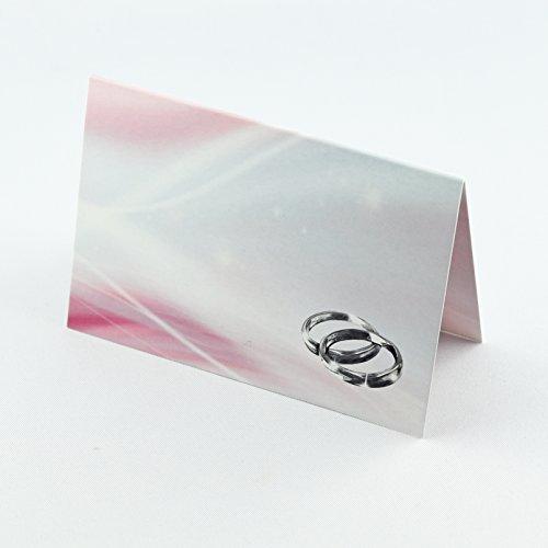 Silberhochzeit Tischkarten - Namenskarten - Platzkarten für die Gäste - Alles für 25 Jahre und die silberne Hochzeit. Marke Deko-Schulze. (25 Stück, Tischkarten) - In $25 Geschenk-karte Box