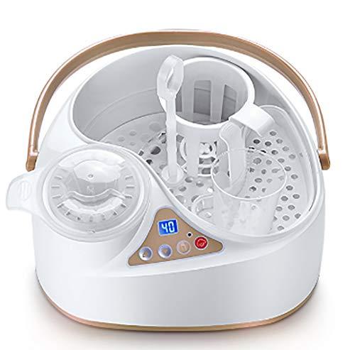 YHML Flaschenwärmer,sterilisator für babyDampfsterilisator,Babys Beißring, Nippel, Löffel und Schüssel können desinfiziert Werden,Für gleichzeitig heiße Muttermilch und heißes Wasser