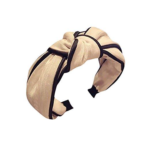 et mit Punkte Muster und Knoten Haarschmuck Damen Stirnband, LEEDY Boho im Retro Style Haarband Make-up Mädchen süß hochwerige Headband Kopfband ()