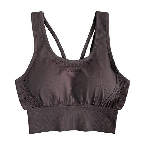 Floweworld Damen Fitness Yoga BH Schnelltrocknender Fitness Unterwäsche Hollow-Out Running Tops BH -