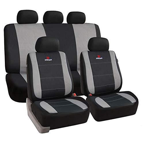 tzbezüge für Auto Schonbezug Schoner Komplettset schwarz/grau SCSC0112 ()