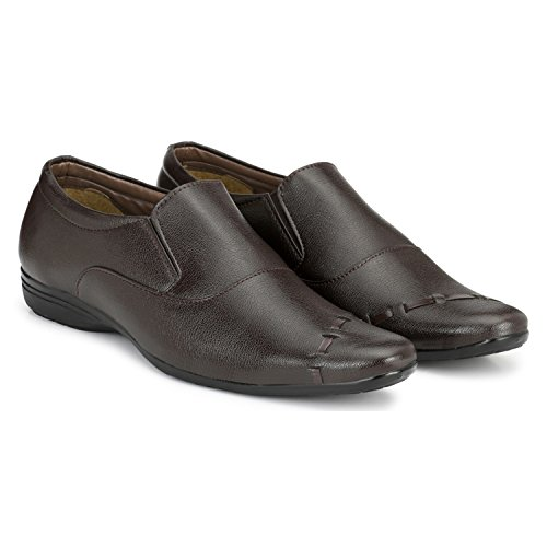 TRUE SOLES Men's Synthetic Slip-on Formal Shoes
