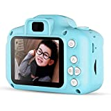 Kids Camera, Vuffuw 8MP HD Video Digital Children Camera, Mini 2 Inch Screen Sports Camera Recorder Camcorder with Soft Cover, Best Gift for Boys Girls (Blue)