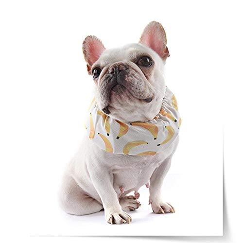 lendes Halstuch Kühlhalsband Hund Kühlkragen Verstellbar Mit 4 Eisbeutel, Atmungsaktiv Für Abzukühlen Und Gesund, Wiederverwendbar Und Waschbar ()