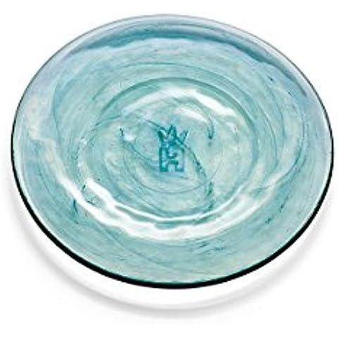 Holmegaard–nordlys Plato, vidrio reciclado