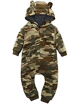 Kinder Camouflage Kapuze Fleece Overall Infant Jungen Mädchen Dicker Camouflage Hoodie Strampler Overall Outfit...
