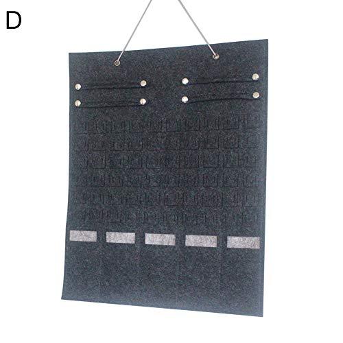 Steellwingsf Multi-Slot Sonnenbrille Veranstalter hängen Ohrringe Halskette Aufbewahrung Tasche Halter - grau D