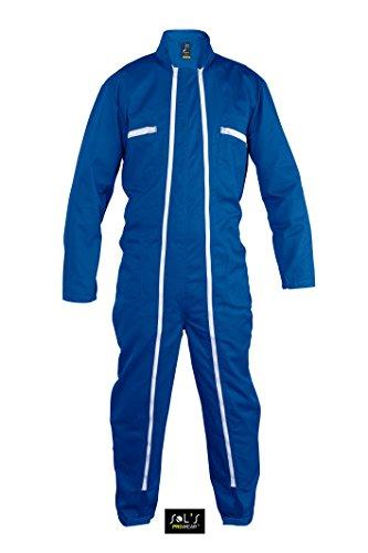 SOLS Workwear Jupiter PRO - Tuta da Lavoro, Taglia 3XL (58/60), Colore: Blu Bugatti