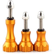SODIAL(R) 3 x Tornillo Aluminio Screw para Camara Gopro Hero 1 2 3 3+ Accesorio Dorado