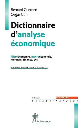 Dictionnaire d'analyse conomique