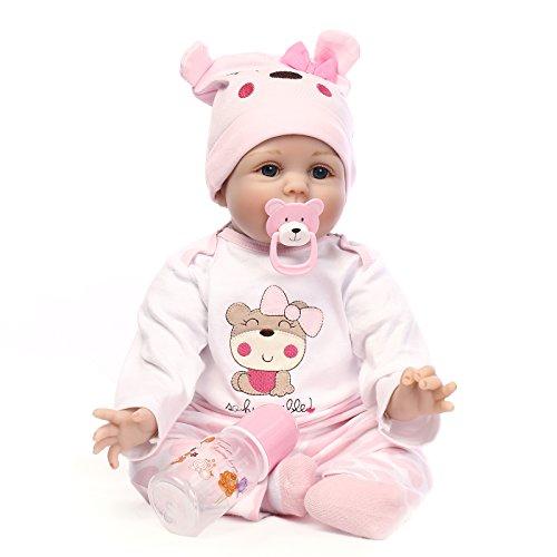 VUGO Realistica Bambola Bambole Reborn Baby Dolls Rinato Bambino22 Pollici 55 cm Bambolotti Silicone Bambini Giocattolo Bambolotti